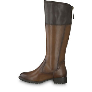 Tamaris-Womens-25508-21-Cognac-Mocca-Leather-Synthetic-Knee-Length-Winter-Boots
