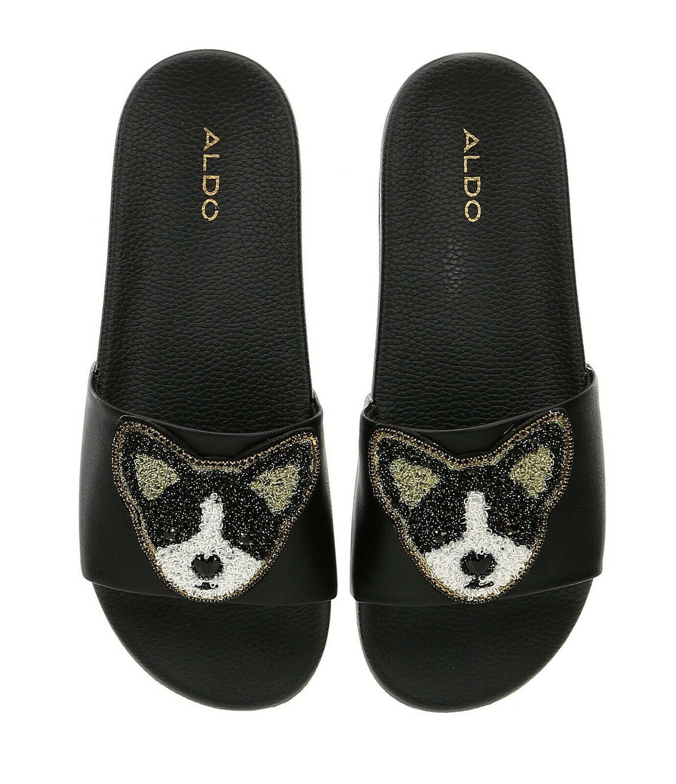 Aldo Mujer Mujer Mujer Grini Boston Terrier Bulldog francés Enjoyado diapositiva Sandalia Zapato 8.5 M  alta calidad
