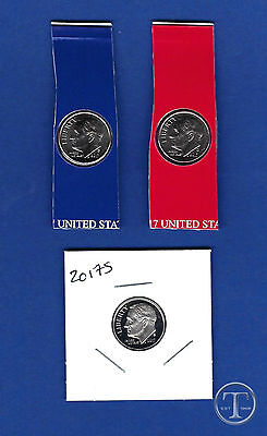 BU  AND CLAD PROOF Roosevelt Dime Update Set Three Coins 2013 P D and S