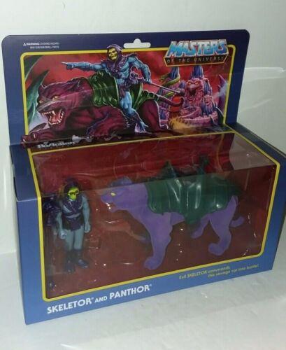 Super 7 Masters of the Universe squelettor et panthor ReAction Figure Neuf Scellé