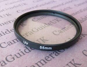 55mm-UV-Filter-Ultra-Violet-For-Nikon-Canon-Olympus-Sony-Camera-Lens-SLR-DSLR