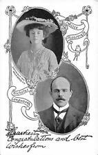 ALICE ROOSEVELT NICHOLAS LONGWORTH POLITICAL POSTCARD (c. 1906)