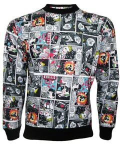Maglione Designer Comic Fleece Jumper Skull Classic Retro Strip Book Sweatshirt qzwSBqr