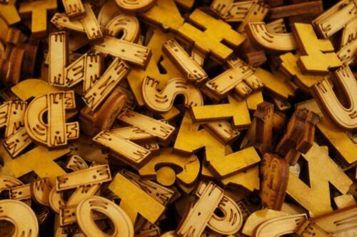 Plain Wooden 2cm Letters Digits Adhesive Letter Numbers Embellishment 260 33