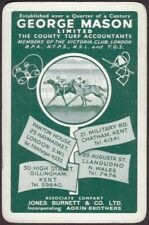 Playing Cards Single Card Old GUNTRIP Turf Accountant Advertising HORSES DOGS B