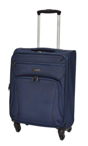 """20/"""" cabine valise à Bord de Bagage à main 4 ROUES Souple Budget Airline Sac 55x37x21"""