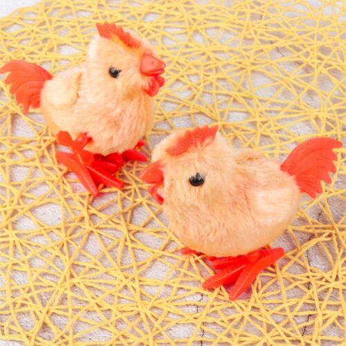 Simulation Walking Plush Rooster Gift Wind Up For Kids Clockwork Toy