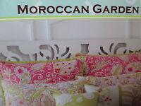 Dena Home By Nostalgia Moroccan Garden Euro Sham Pink, Sage, White Floral