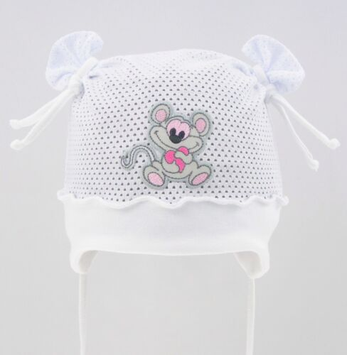 100/% Cotton girls sun bonnet hat spring summer mesh 0-18 months BABY GIRL KIDS