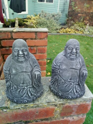 A Pair of Buddha Stone Garden Ornaments