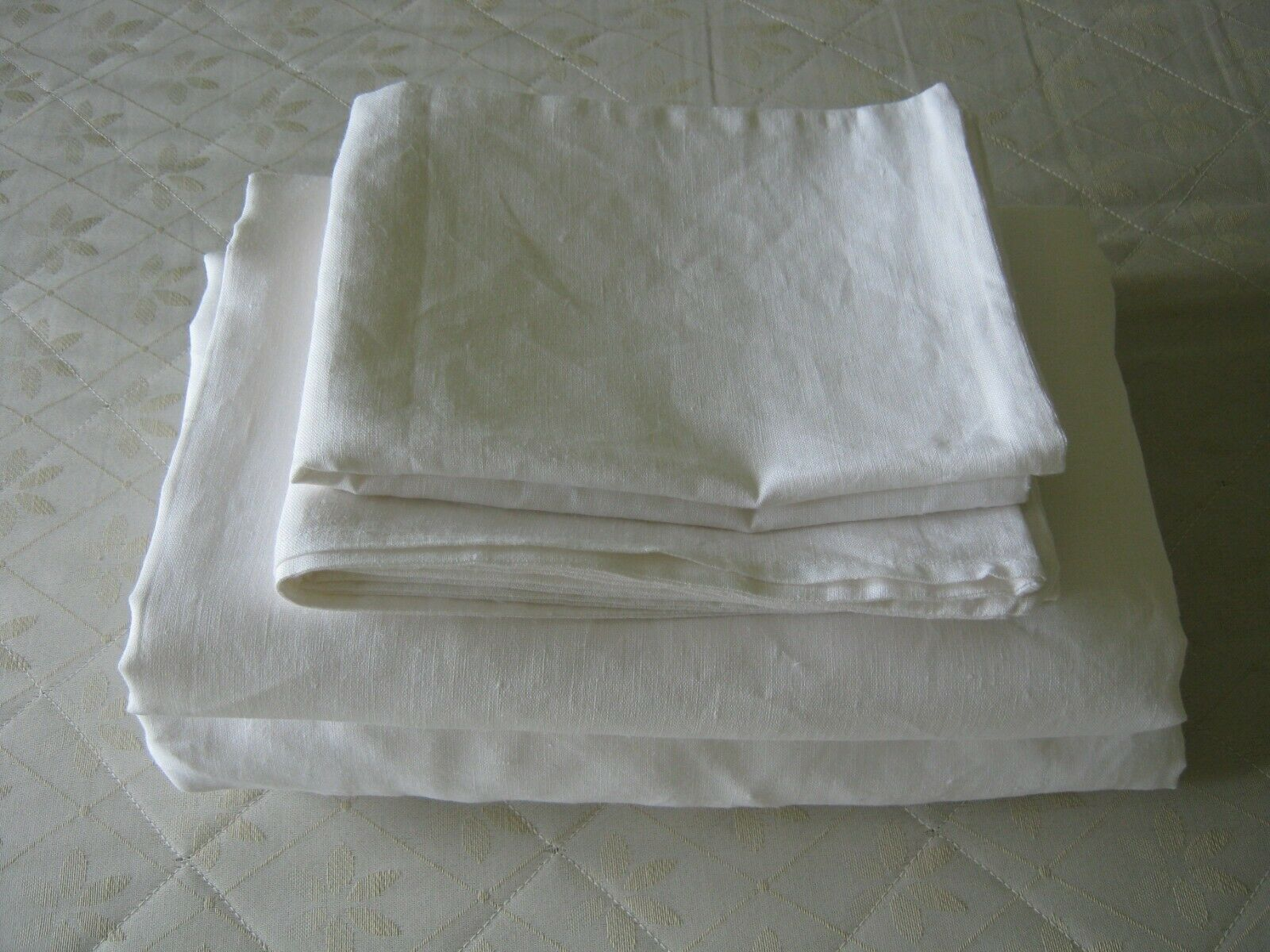 Linen Sheets Set Weiß or Oatmeal Beige Pure Natural Organic Bedding USA Größes