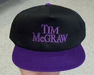 6092db8dc9a Tim McGraw hat VINTAGE Snapback DS new and not worn RARE Country ...