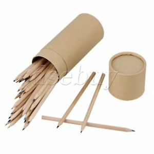 Set-of-48-Colors-No-Printed-Wooden-Colored-Pencil-Kraft-Paper-Box-for-Baby-DIY