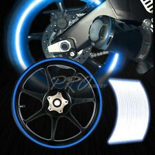 "16/17/18/19"" Reflective Rims Tape/Wheel Rim Decal Stripes Sticker Glowing Blue"
