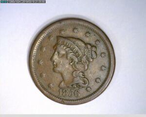 1856 Large Cent Braided Hair Slanted 5 ( 9-296 9m/o )