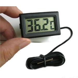 Acquario lcd pesci termometro digitale per 50 110 c nero for Termometro per acquario tartarughe