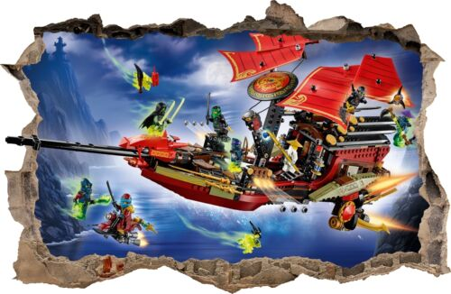 WALL STICKERS HOLE IN THE WALL 3D LEGO NINJAGO sticker to the room 83