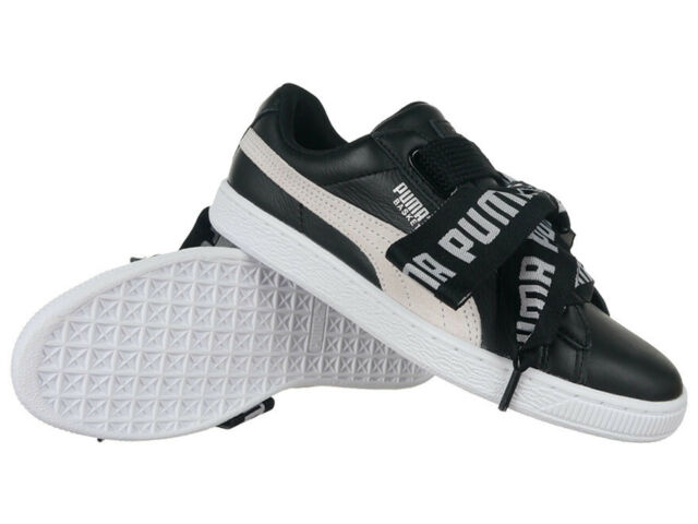 9d2a3b553fe5 Women s Trainers Puma Basket Heart DE Leather Sneakers Black Everyday  Trainers