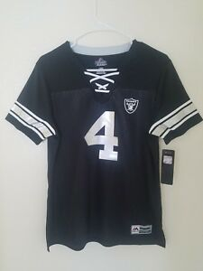 Top New Women's Majestic NFL Oakland Raiders #4 Derek Carr V Neck Jersey  supplier