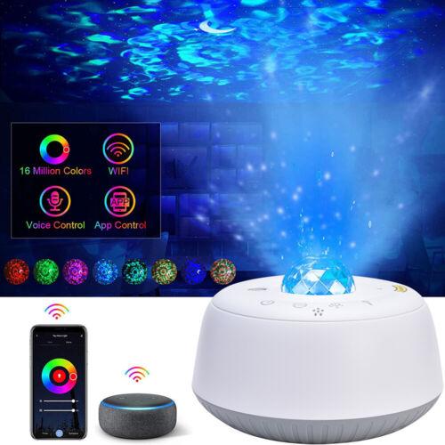 LED Sternenhimmel Projektor Lampe Starry Mond Stern mit Alexa Google Home USB DE
