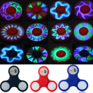 Lot-LED-Patterns-Rainbow-Flash-Light-Spinner-Fidget-Toy-EDC-Hand-Finger-ADHD