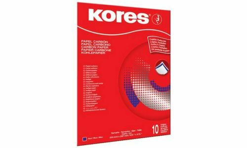 Kores Durchschreibepapier DIN A4 blau 100 Blatt Pauspapier Kohlepapier Papier