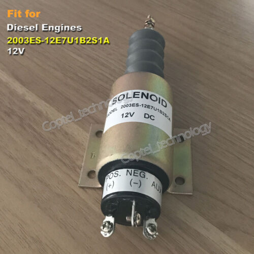 Diesel Fuel Flameout Solenoid Valve 2003ES-12E7U1B2S1A 12V for Diesel Engines