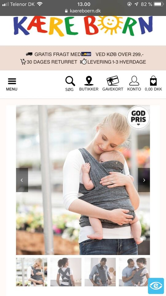 Bæresele, -, Chicco Boppy Comfy Fit