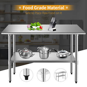 24-034-x-48-034-Commercial-Work-Table-Stainless-Steel-Food-Prep-Kitchen-Restaurant