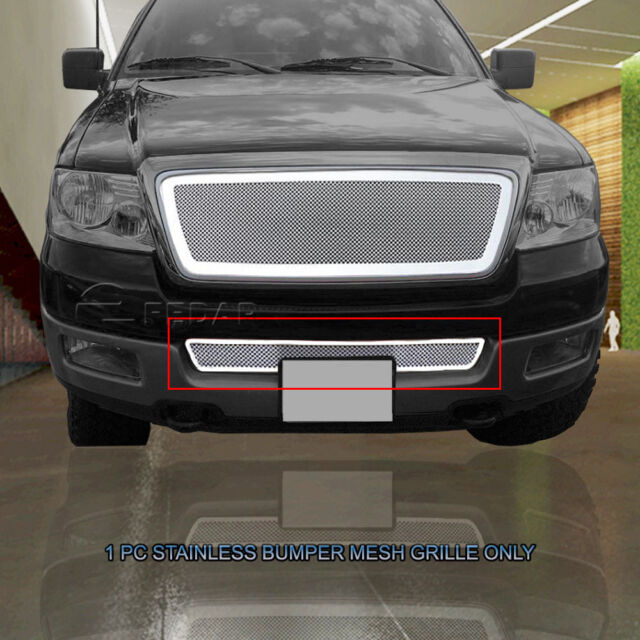 05 F150 Bumper >> Fedar Stainless Steel Mesh Bumper Grille Grill Insert For 04 05 Ford F 150 F150