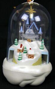 Light up Animated Dome Christmas Ornament Musical Santa ...