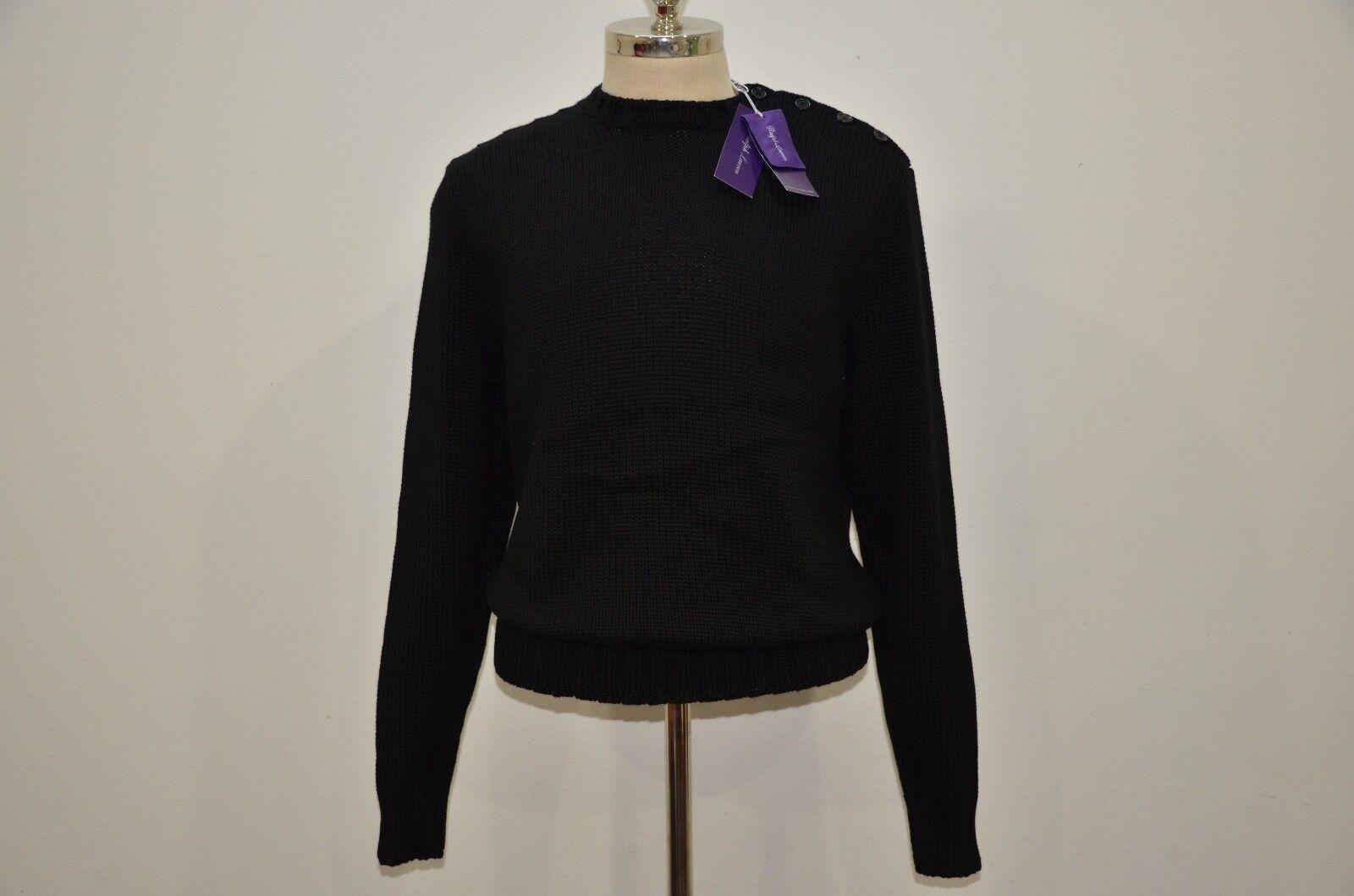 Ralph Lauren Purple Label Made in  100% Cotton Heavy Knit Sweater L