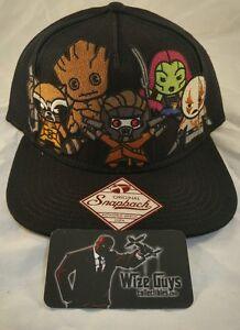 7d1dff424 Details about Bioworld Marvel Comics Kawaii Guardians of the Galaxy  Snapback Hat