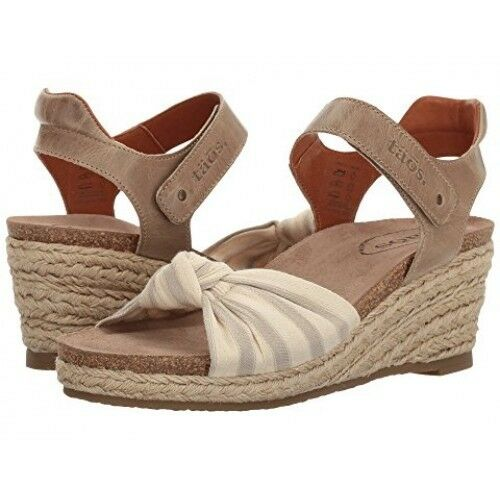 Taos VERY JUTE SAND EU 40 US US US 9-9.5 NEW IN BOX WEDGE SANDAL 101b9e