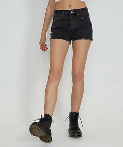 Ksubi Tongue N Cheek Denim Shorts black