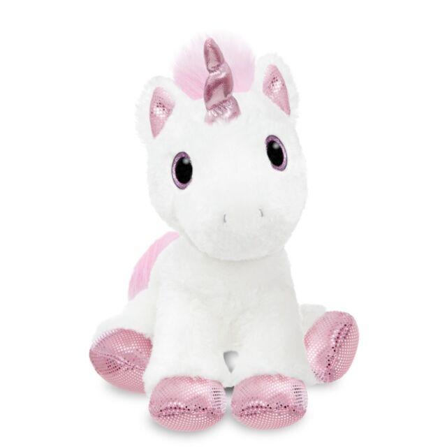 "Soft Toy/Plush ~ Sparkle Tales ~ PRINCESS ~ Unicorn 12"" ~ WHITE/PINK"