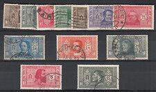 REGNO 1932 SOCIETA' DANTE SS. 303 / 314 P.O. SERIE DI 13 VALORI USATI VEDI FOTO