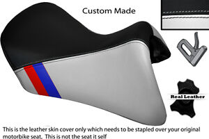 Black White Custom M3 Stripe Fits Bmw R 1200 Rt Front Leather Low