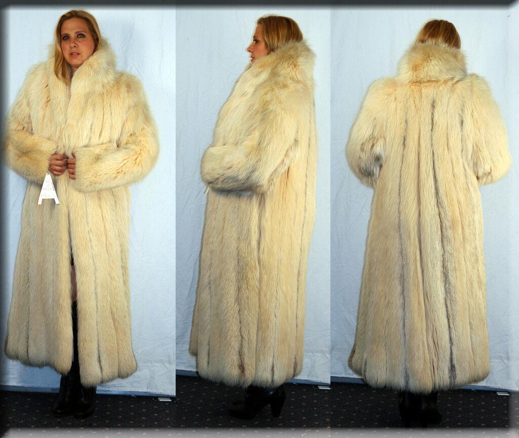 New Honey Fox Fur Coat Size Medium 6 8 M Efurs4less