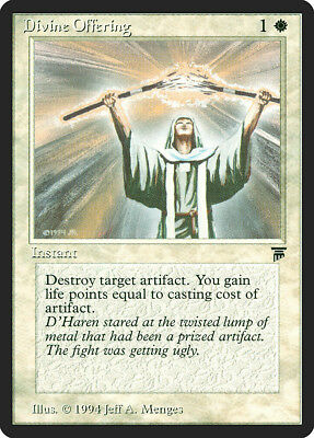 Divine Offering Legends MINT White Common MAGIC THE GATHERING MTG CARD ABUGames