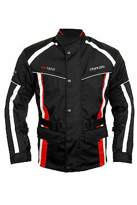 Motorcycle Motorbike Textile Cordura Jacket Waterproof CE Approved Armour