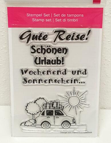 """Sonnenschein Clear Stamps /""""Reise 2/"""" Urlaub Motivstempel Silikonstempel Auto"""
