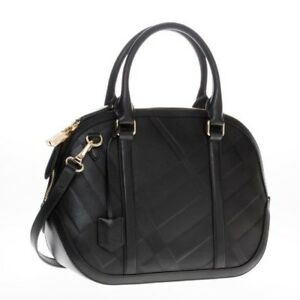 4c4273e65738 Burberry Women s Small Soft Check Orchard Bowling black Leather ...
