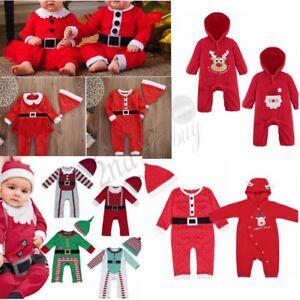 Christmas Newborn Baby Boy Girl Romper Bodysuit Jumpsuit Outfit Tutu Dress Xmas