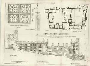 1887-Haddon-Hall-Ground-Plan-And-Elevations-Drawings-By-Frank-Bellis-Chester
