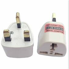 EUROPE/USA/AUSTRALIA to UK GB ENGLAND AC Power Plug Adapter Travel Converter