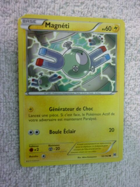Carte pokémon magnéti 52/162 commune Xy Impulsion Turbo