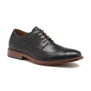 Men-Bass-Usa-Leather-Classic-Dress-shoe-WingTip-Oxford-70-80544-Clinton-Black