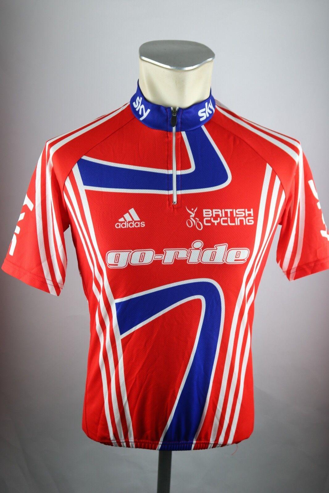 Adidas British Cycling Sky Radtrikot Gr. S 48cm Bike cycling jersey Shirt F5