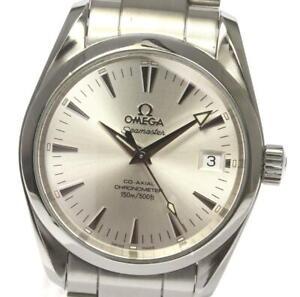 OMEGA Seamaster Aqua Terra 2504.30 Date Silver Dial Automatic Boy's Watch_548171